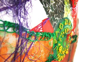 Close up of embroidery; photograph used by New Designers 2013