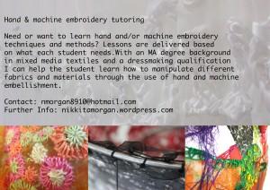 Sewing Tutoring